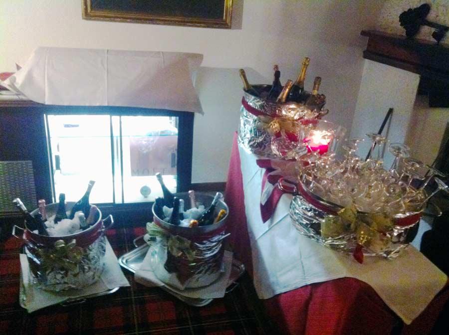 Champagne party al Savoia Palace Campiglio