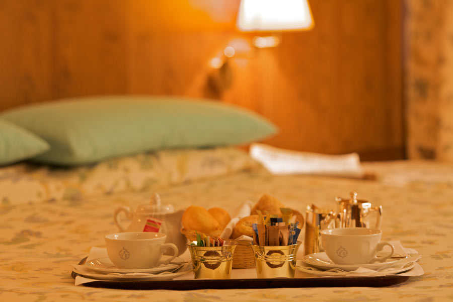 room service at the Savoia Palace, Madonna di Campiglio