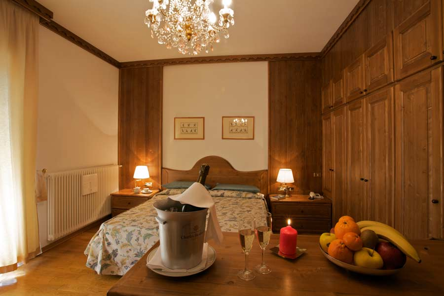 suite of the Savoia Palace hotel, Madonna di Campiglio