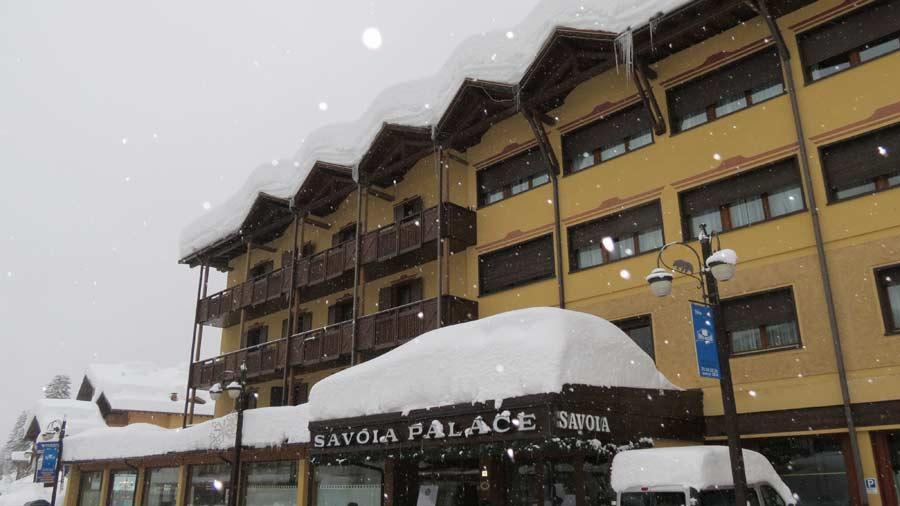 nevicata Madonna di Campiglio Hotel