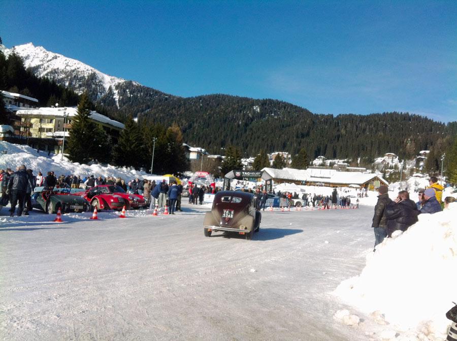 winter marathon sul Lagetto Ghiacciato