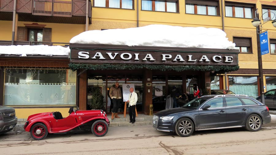 classic car outside the Savoia Palace